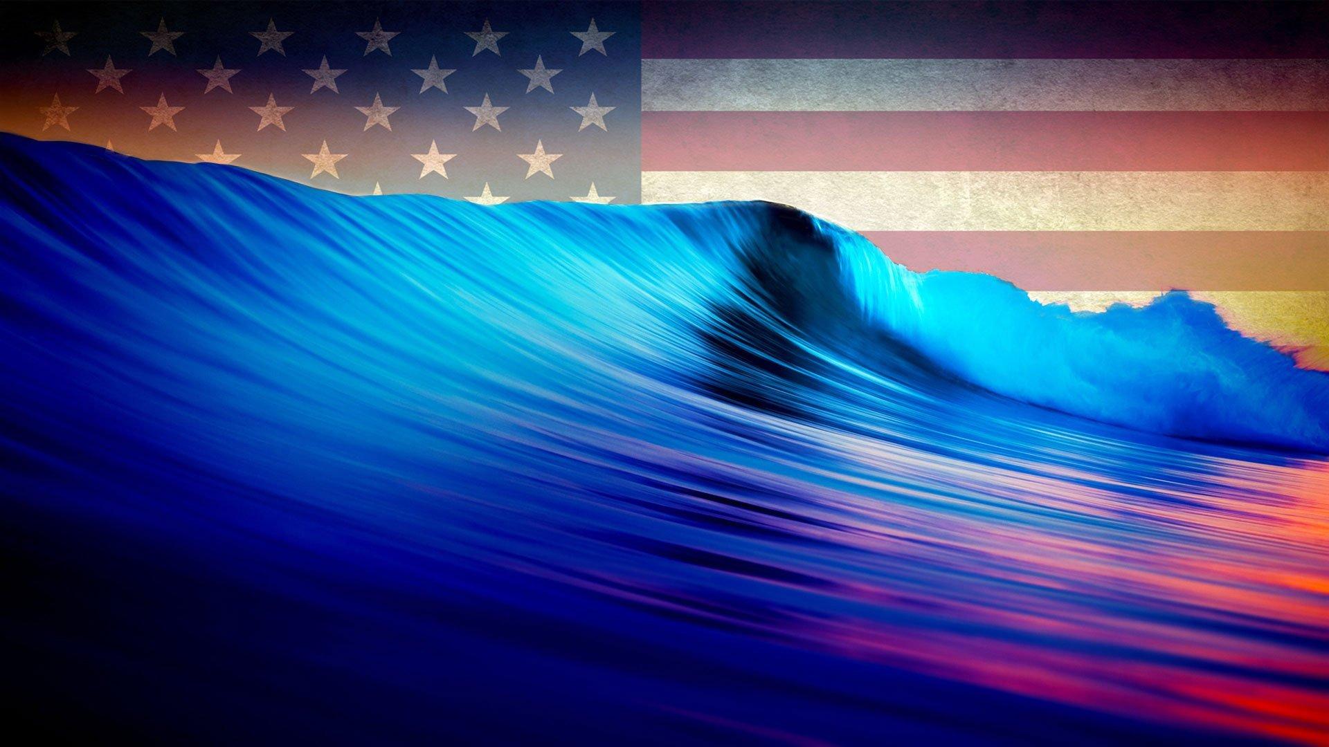 American-blue-waves